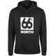 66° North Logn Box Logo Hoodie Unisex Black